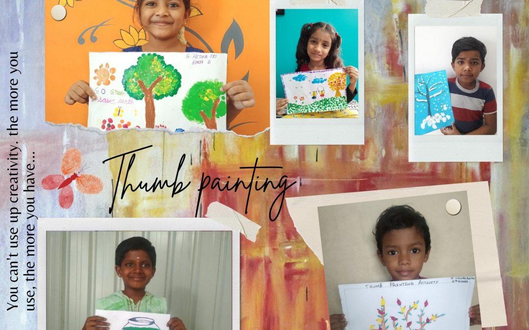 Thumb Print – Grade 2 Art Activity